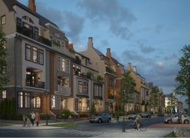 Renderings of Town Center townhomes.