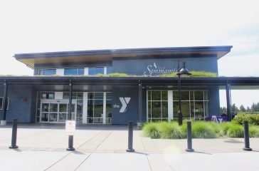 Front entrance of the YMCA in Sammamish