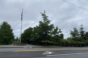 City of Sammamish owns a Pride flag, but did not raise it during Pride Month this year. (Photo by Alex Woodall)
