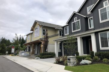 New homes being built in Sammamish.