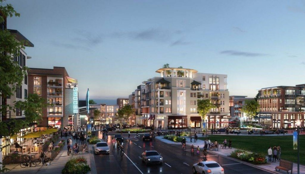 Rendering of the proposed Sammamish Town Center (Photo provided by STCA).