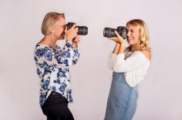 Jean (left) and Emily Johnson (right) run a photography studio that offers gift certificates this holiday season. (Photo by Emily Johnson)