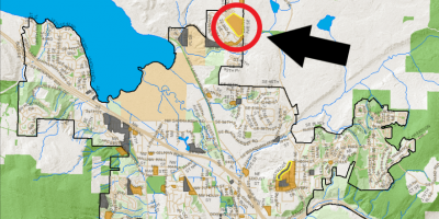 The location of the new elementary and high schools that Issaquah School District is planning to build.