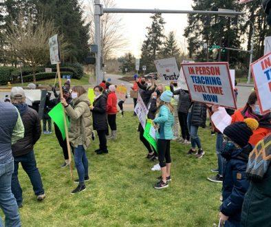 School district parent protest