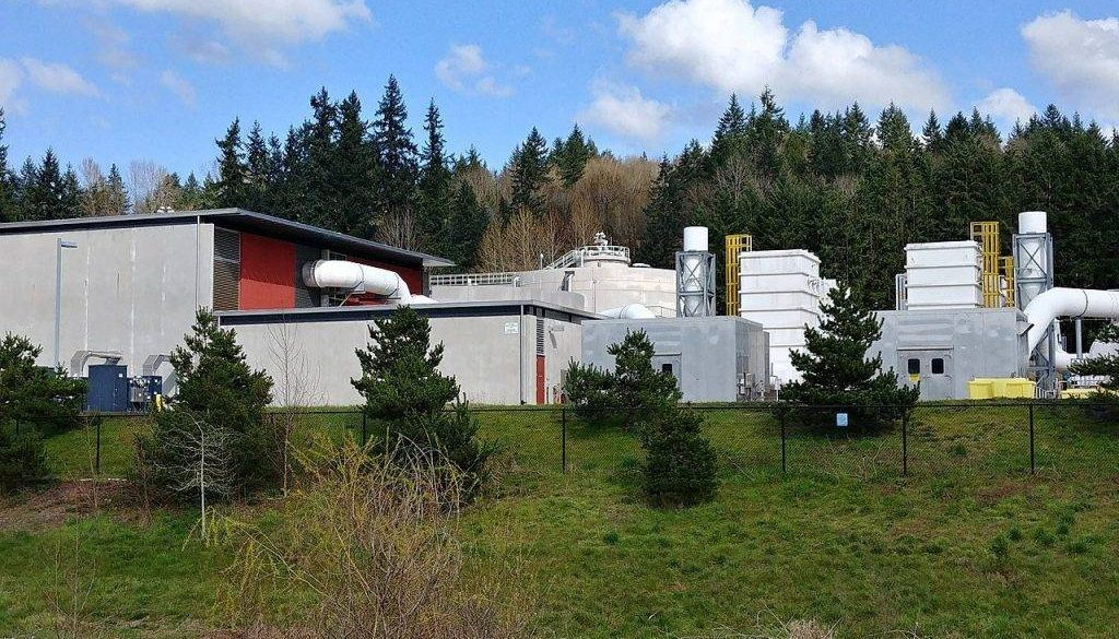 Brightwater Treatment Plant near Woodinville, where Sammamish sewage would get diverted to by 2030.