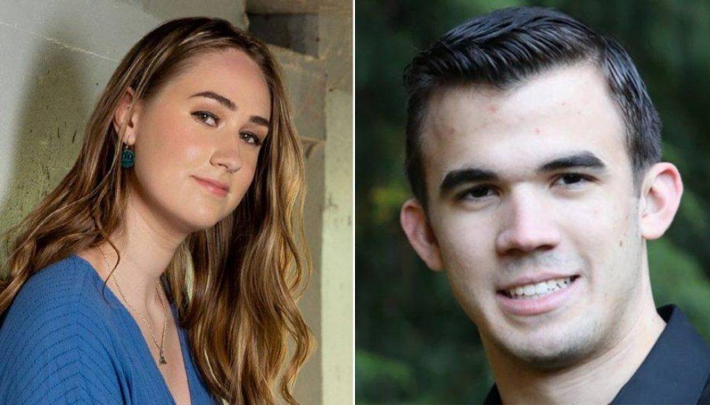 Natalie Ellis (left) and Garrett Delaney (right) are two of the four valedictorians at Eastside Catholic. (courtesy)