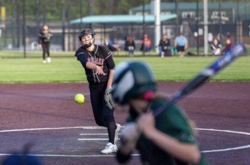 Eastlake pitcher Leslie Hines throws a pitch.