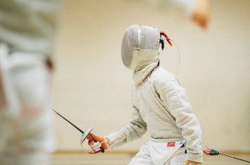A fencer ready to compete.
