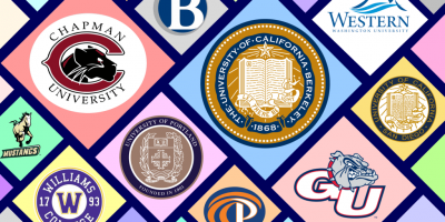 Montage of college logos.