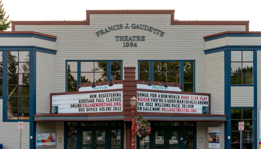Village Theatre front side.